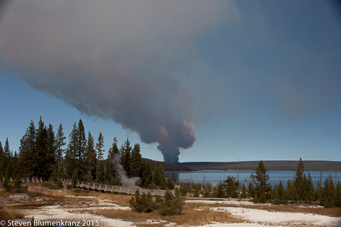 Forest Fire Starting in Yellowstone